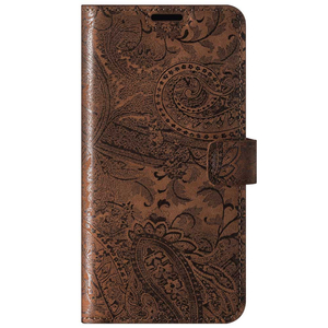 Wallet case RFID Premium - Ornament Brown