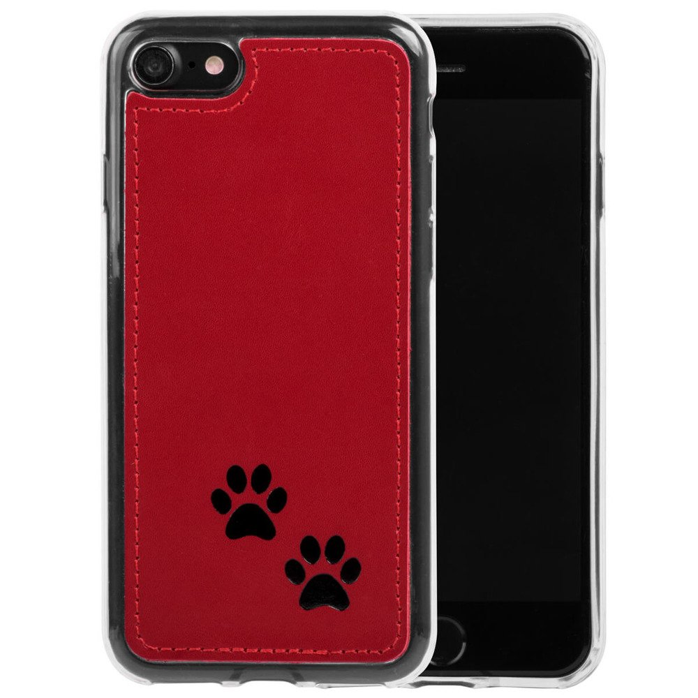 Surazo® Back case phone case Costa - Red - Two paws