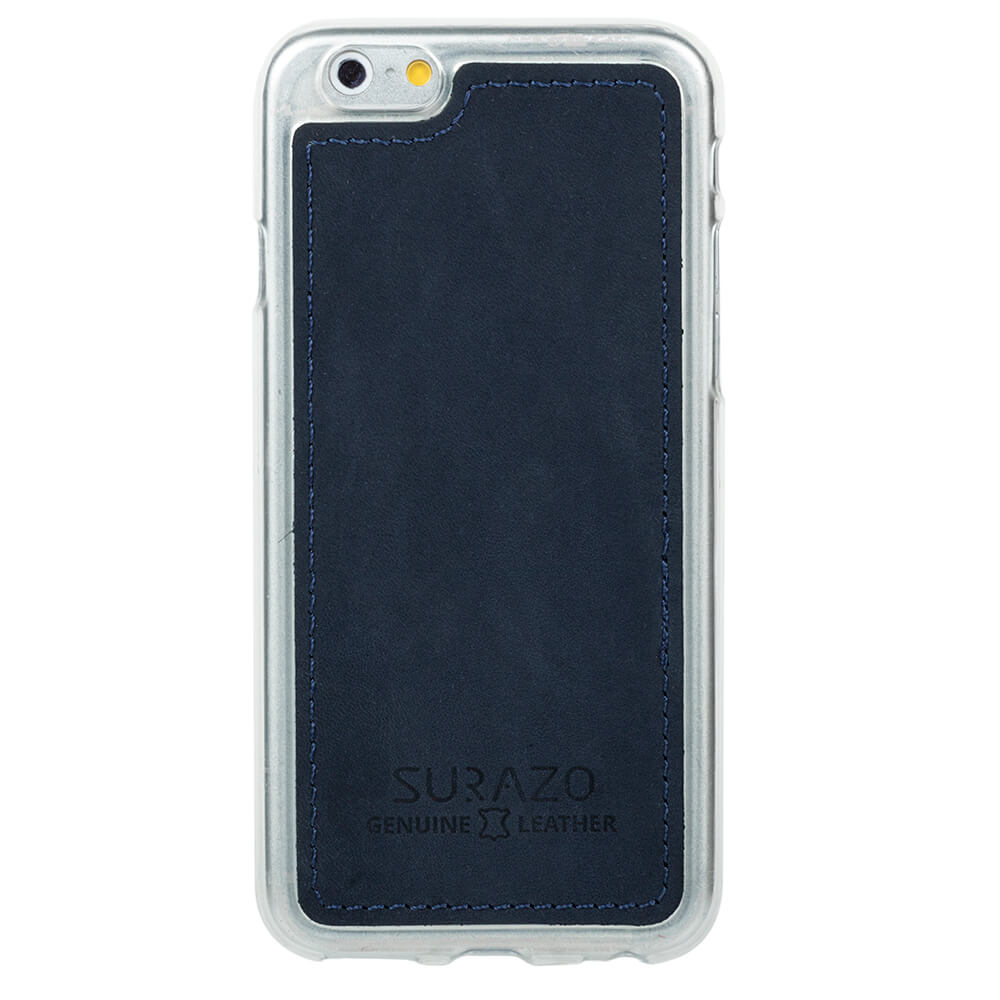 Surazo® Back case phone case - Nubuk Dark Blue