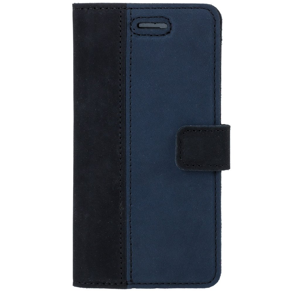 Surazo® Two-tone Wallet phone case - Black and Navy blue