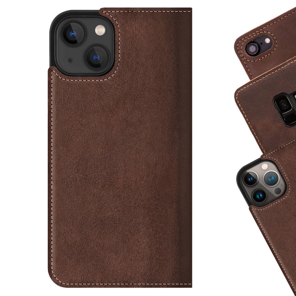Surazo® Smart Magnet RFID case Nubuck - Nut brown