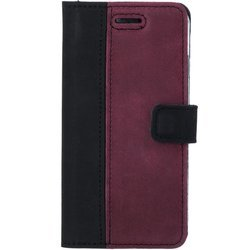 Surazo® Two-tone Wallet phone case - Black and Burgundy