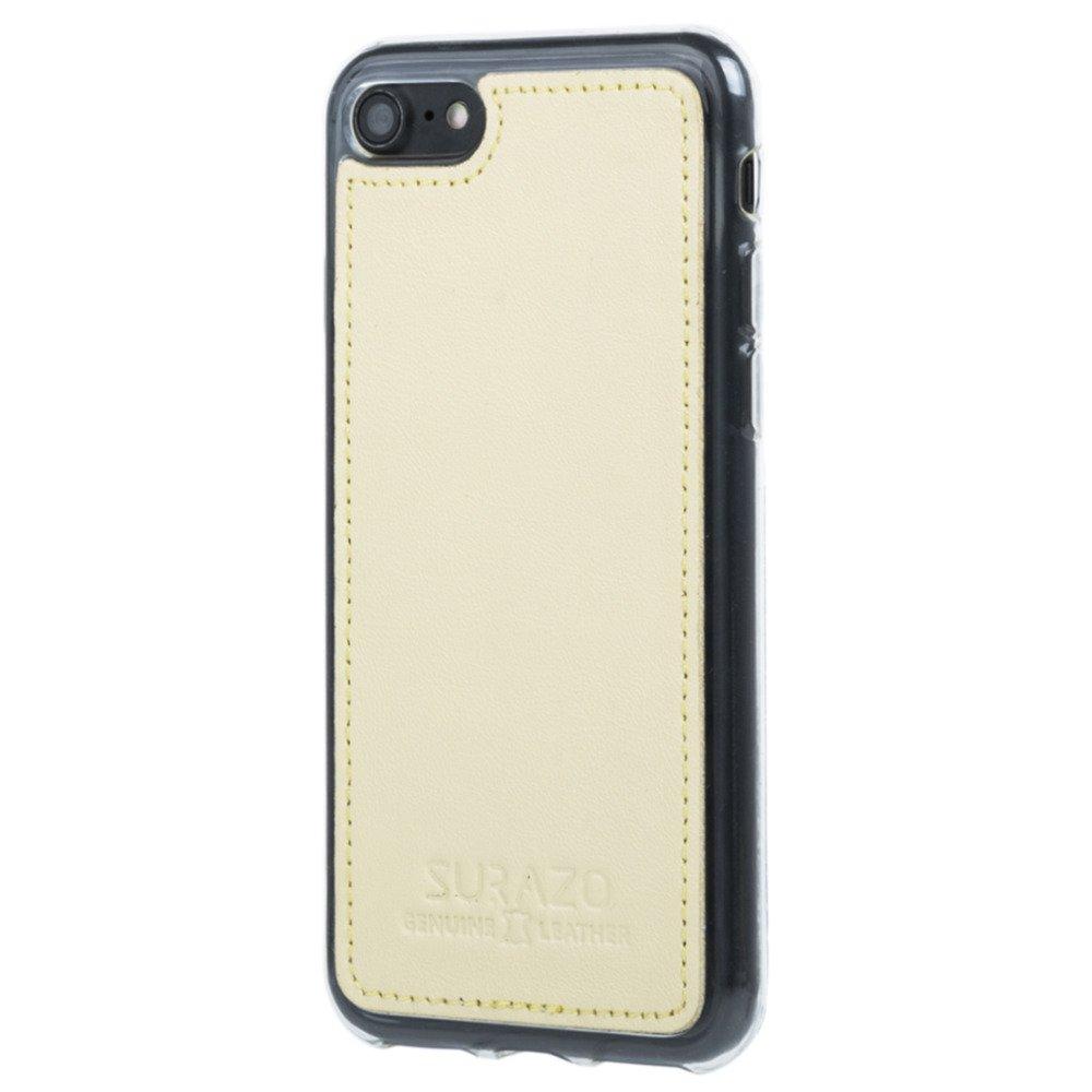 Surazo® Back case Lederhülle Pastell - Gelb