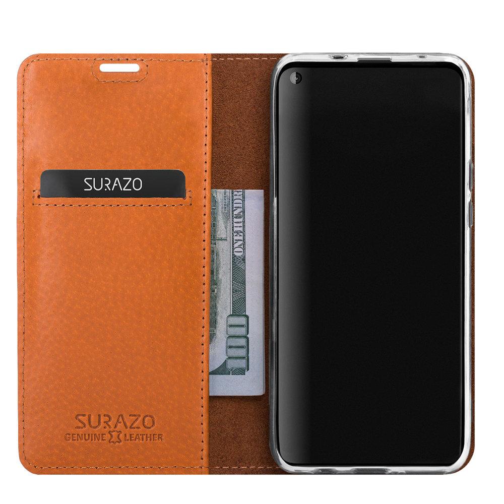Surazo® Smart Magnet RFID Lederhülle Nubuk - Burgund