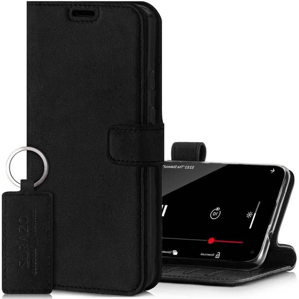 Wallet case - Nubuk Schwarz
