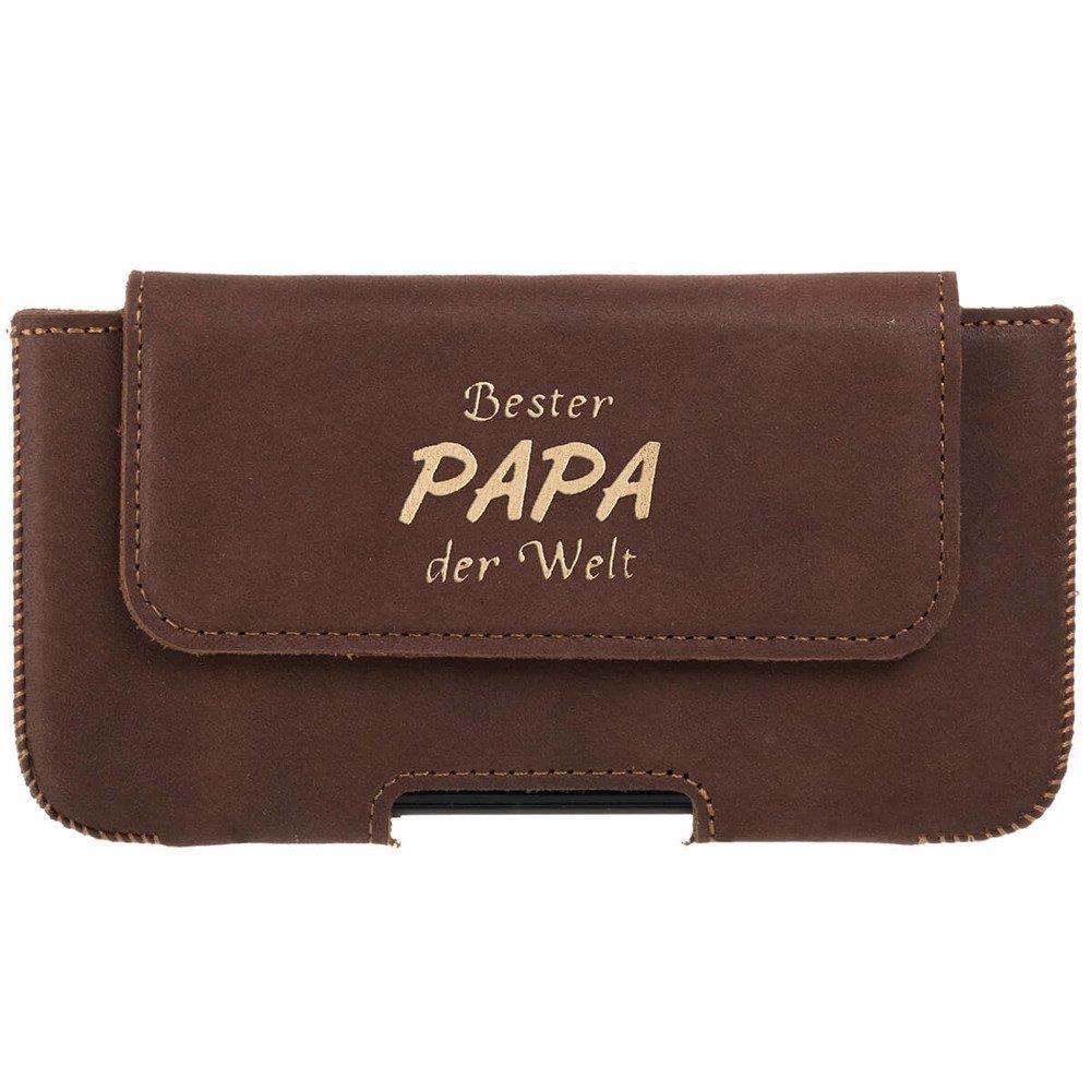 Belt case - Nubuk Orzechowy - Bester Papa Złoty