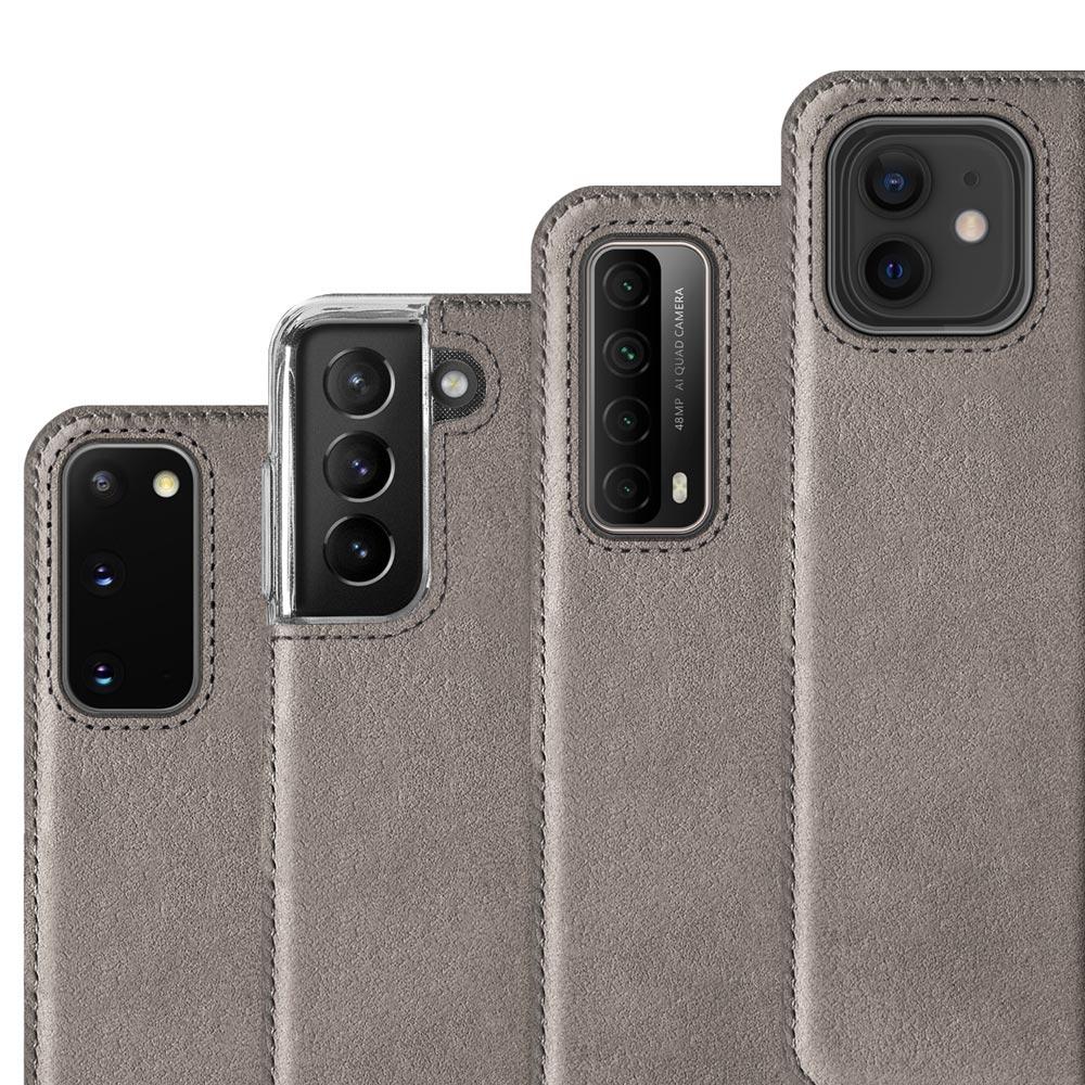 Surazo® Etui Smart Magnet RFID Nubuk - Szary