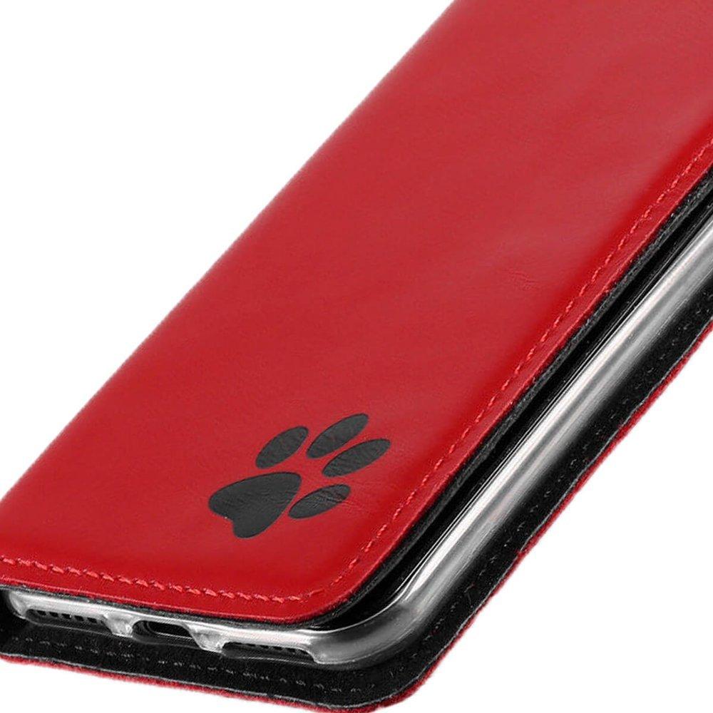 Surazo® Etui Smart Magnet RFID - Costa Czerwona - Łapa czarna