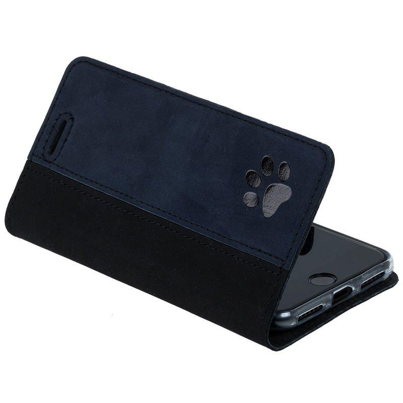 Surazo® Wallet case Duo - Czarny i Granatowy - Łapa Psa